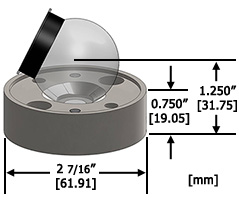 1.5THR Reference Target Mount dimensions